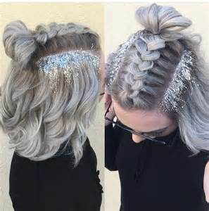 hair desings with plated hair glitter hair trend review beautyholics101