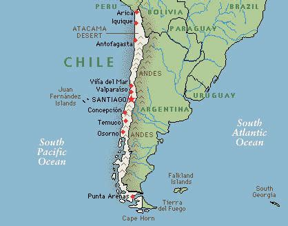 south america map chile map of chile photos map pictures