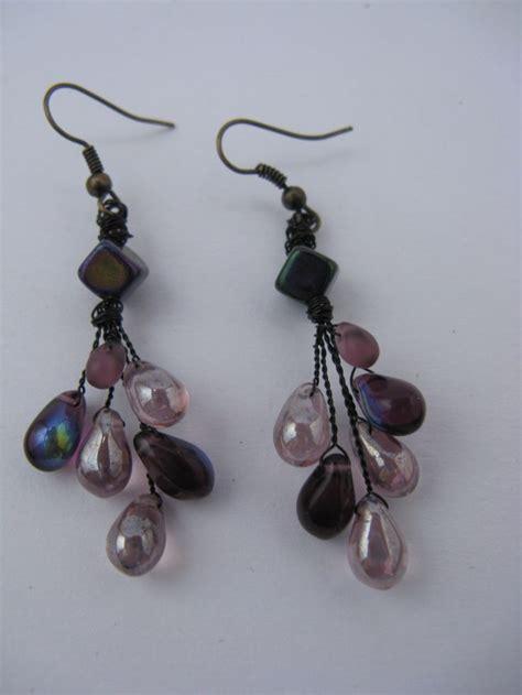 teardrop cluster earrings beaded jewelry i ve