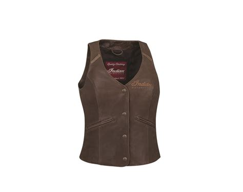 womens brown motorcycle women s indian motorcycle 174 vest brown leather indian