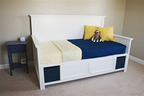day bed with storage ana white hailey storage daybed diy projects