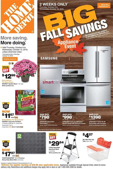 home depot on flyer october 6 to 12
