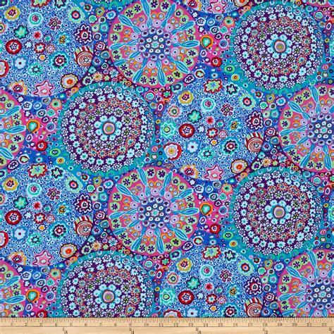 Kaffe Fassett Upholstery Fabric by Kaffe Fassett Millefiore Aqua Discount Designer Fabric