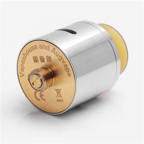 Druga 24mm Silver By Augvape Rda Atomizer Clone 26 99 authentic augvape druga rda silver ss 24mm