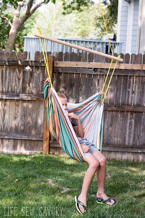 How To Make Your Own Hammock Chair by Diy Hammock Chair Sew Savory