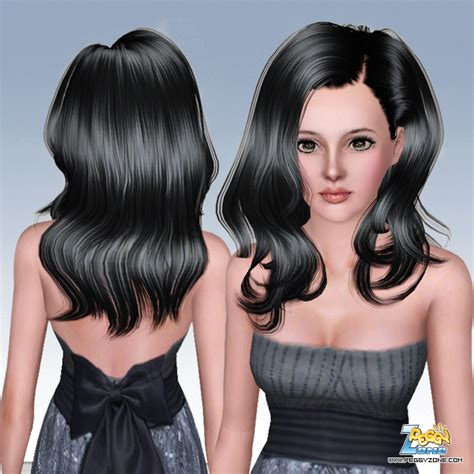 haircuts zone long wavy hairstyle id 000029 by peggy zone sims 3 hairs