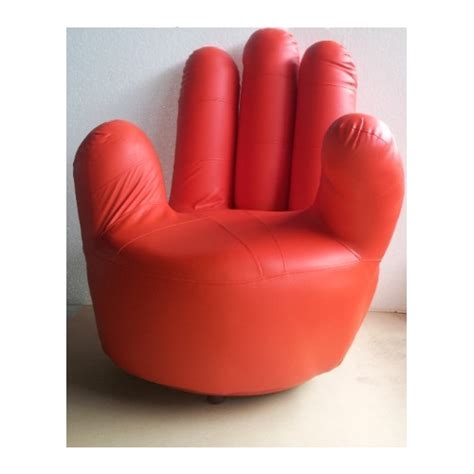 finger sofa pu leather adult size swivel hand chair finger sofa 1 seat