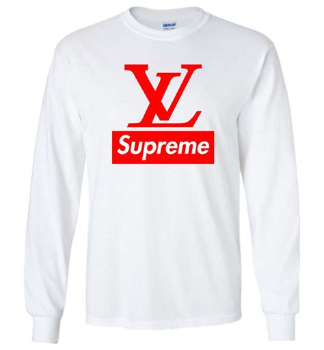 Kaos Supreme Lv Supreme Tshirt Supreme supreme hoodie louis vuitton supreme logo sleeve t