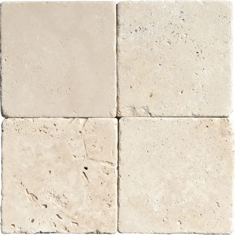 ivory tumbled travertine tiles 4x4 marble system inc
