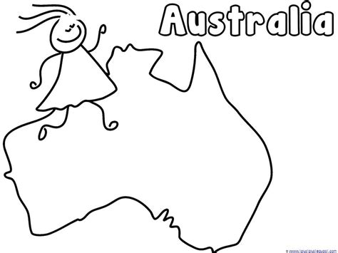 australia map coloring page countries coloring pages