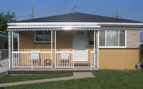 awnings for mobile home porches 3 columns without gutter mr enclosure michigan sunrooms
