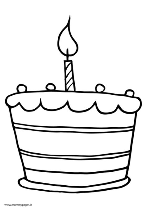 cake coloring pages pdf cake with one candle colouring page mummypages mummypages ie