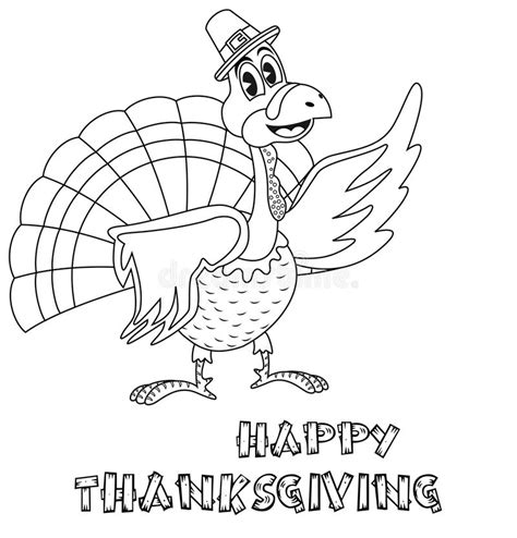 turkey time coloring page thanksgiving turkey coloring page stock vector image