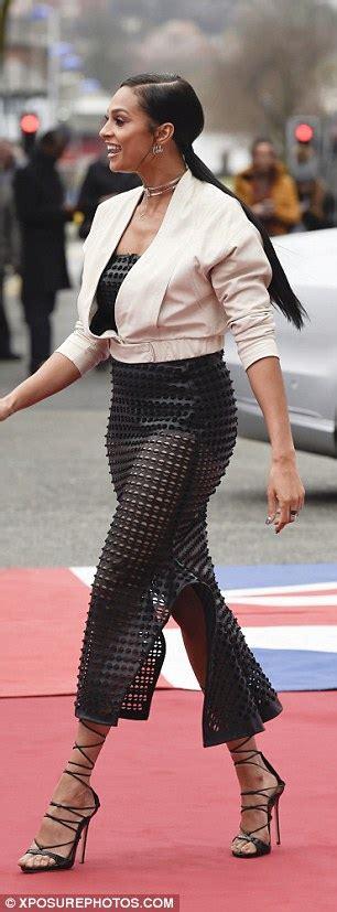 Alesha Dress Set alesha dixon at birmingham bgt auditions in leather dress