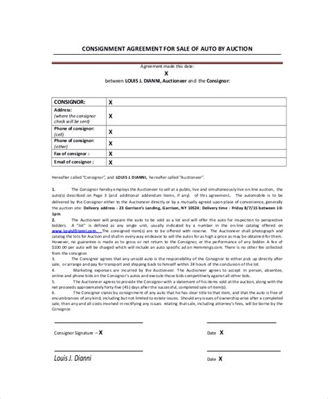 Consignment Agreement 10 Free Pdf Word Documents Download Free Premium Templates Auction Consignment Agreement Template