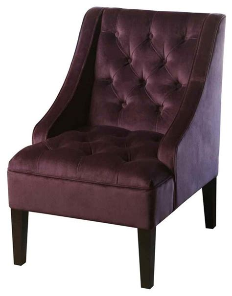 Purple Tufted Chair by Amelia Tufted Purple Armchair Armchairs And