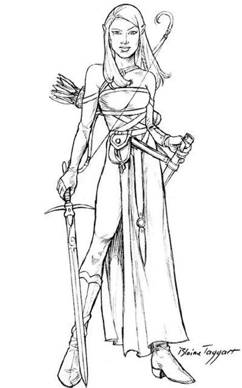 warrior girl coloring page tess by staino on deviantart deviant pinterest tes