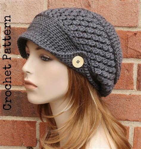 crochet hat pattern instant pdf finley newsboy