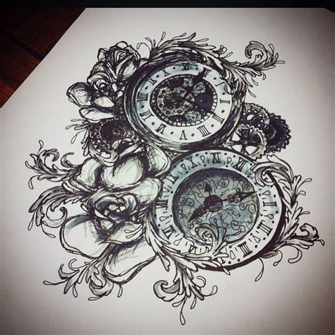 my tattoo design 17 best images about my work on clock tattoos