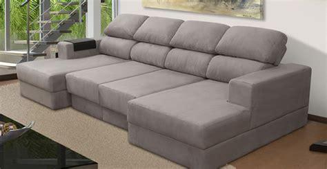 Sofa Chaise Retratil sofa chaise retratil e encosto reclinavel kelli arena biz