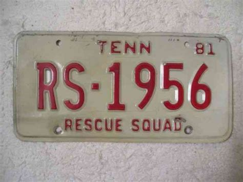 tennessee rescue tennessee rescue squad license plate