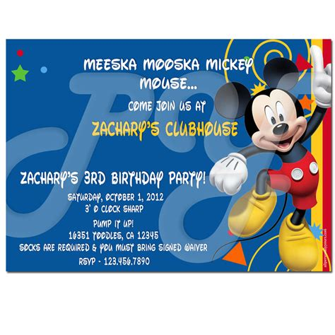 How To Write Invitation Card In Less Than 5 Minutes Free Invitation Templates Drevio Mickey Mouse Clubhouse Birthday Invitations Template