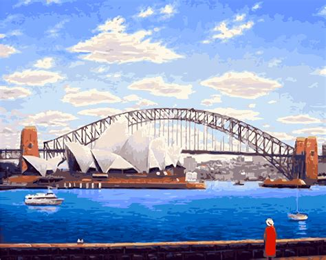 Acrylic Paint By Numbers Kit Canvas 50 40cm A015 Sydney