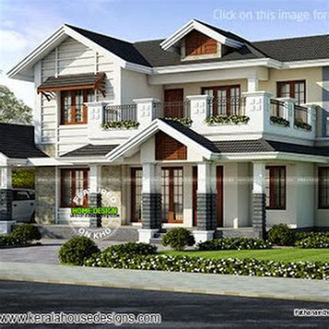 beautiful home exterior in 2446 square feet house design 2446 sq ft villa exterior kerala home design and floor plans