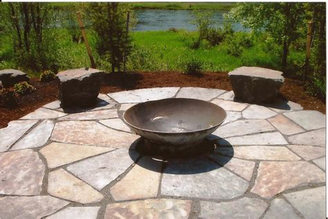 Landscape Rock Patio Paths And Patios Frontier Landscaping