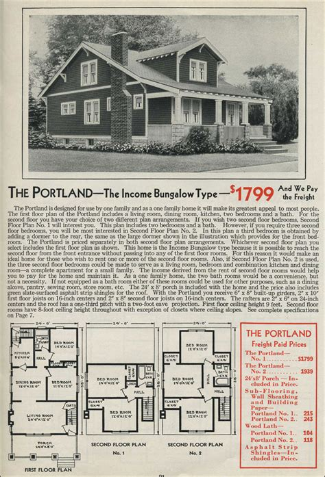 aladdin homes floor plans gabled dormer portland craftsman style bungalow 1931