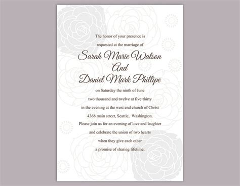 wedding invitation text template diy wedding invitation template editable text word file