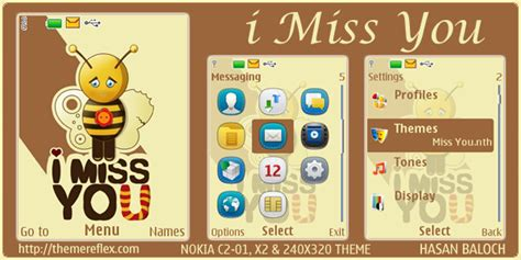 nokia c3 miss you themes i miss you theme for nokia x2 c2 01 240 215 320 themereflex