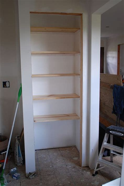How Do I Build A Shelf by Kitchen Pantry Makeover Diy Installing Wood Wrap Around