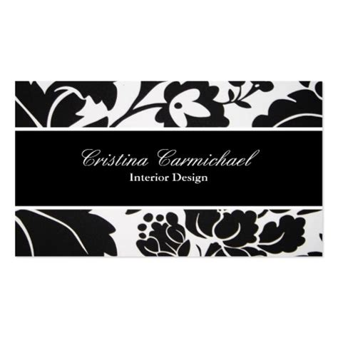 modern black and white business cards zazzle