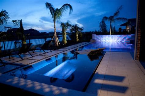 ledge lounger ledge loungers in contemporary pool houston