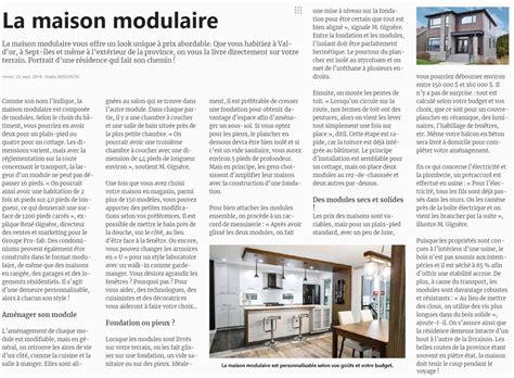 Construction Modulaire Maison by La Maison Modulaire Accueil