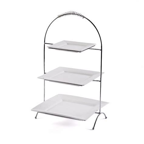Tiered Plate Rack by Tiered Plate Stand Creative Home 73045 3 Tier Dinner