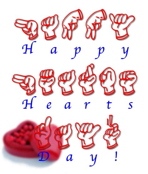 happy new year in philippine language happy hearts day free fsl font deaf
