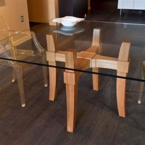 Custom Glass Top Dining Table By Infusion Furniture Custom Glass Dining Table