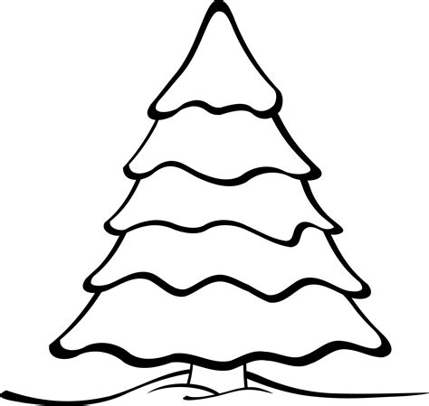 clip outline tree outline on black clipart clipart suggest
