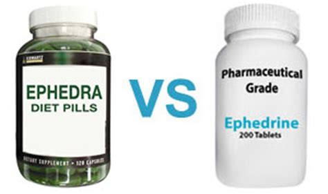 ephedra diet pills vs ephedrine