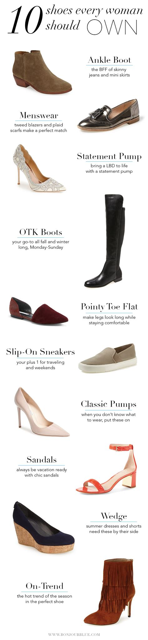 shoes every should 10 shoes every should own bonjour blue