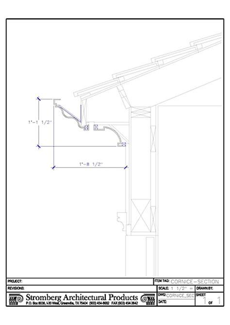 Cornice Section cornice section