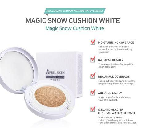 April Skin Magic Snow Cushion Black Upgrade 2 0 april skin magic snow cushion white 3 shades to choose hermo shop malaysia