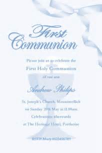 personalised communion invitations boy new design 1