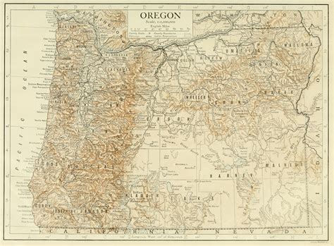 map of oregon 1800s ember a pathfinder caign world
