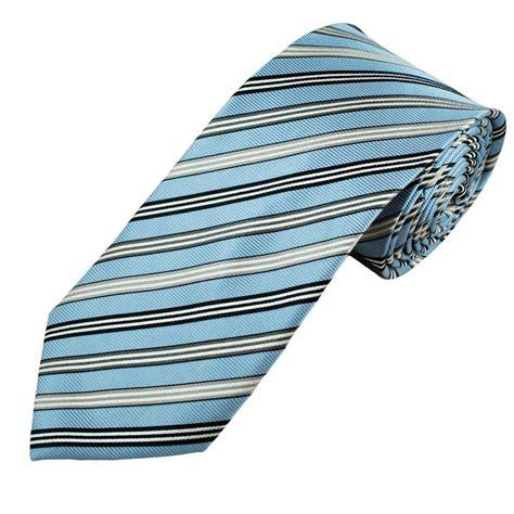 light grey silk tie light blue navy grey white striped men s silk tie from