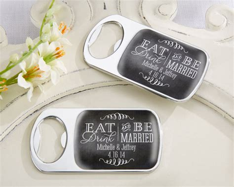 Wedding Favors Bottle Openers by Eat Drink And Be Married Personalized Bottle Opener From