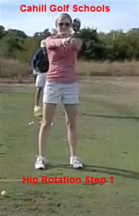 hip turn in golf swing drill golf tips hip rotation cahill golf instruction