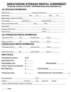 8 Printable Storage Rental Agreement Pdf Forms And Templates Fillable Sles In Pdf Word To Storage Space Lease Agreement Template